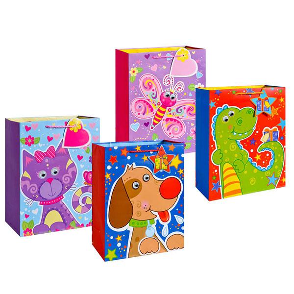 Пакет подарочный бумажный TZ14046 Забавные животные, 5 видов (23*18*12 см) (в ассортименте) пакет подарочный бумажный garden tz6617 32 5 26 11 5 см в ассортименте