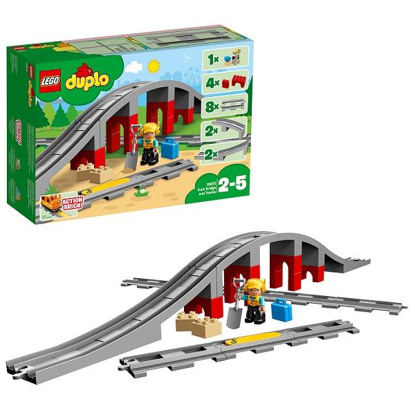 Lego Duplo 10872 Конструктор Лего Дупло Железнодорожный мост и рельсы lego конструктор дупло детский сад