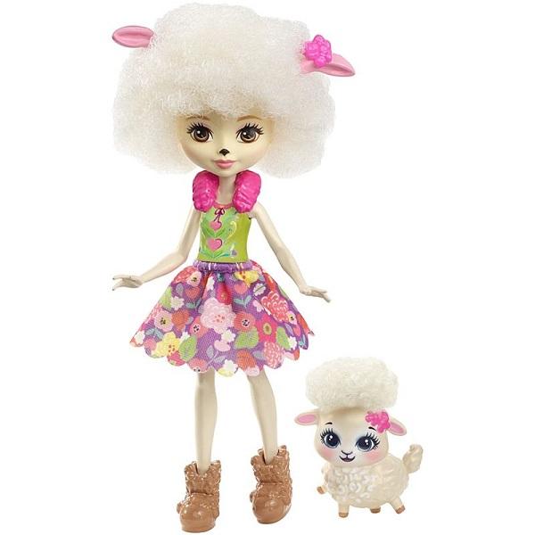 Mattel Enchantimals FNH25 Кукла с питомцем - Овечка кукла enchantimals кукла с питомцем fnh22 пики попугай