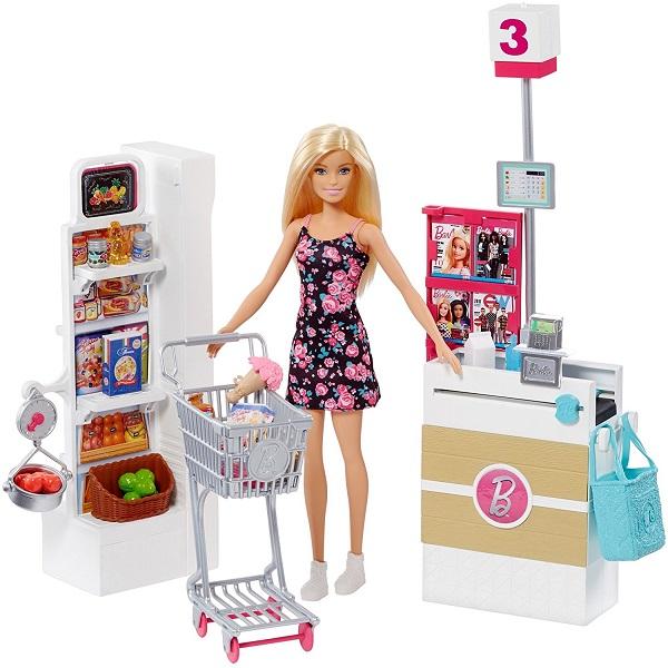 Фото - Mattel Barbie FRP01 Барби Супермаркет (в ассортименте) набор школьниика barbie