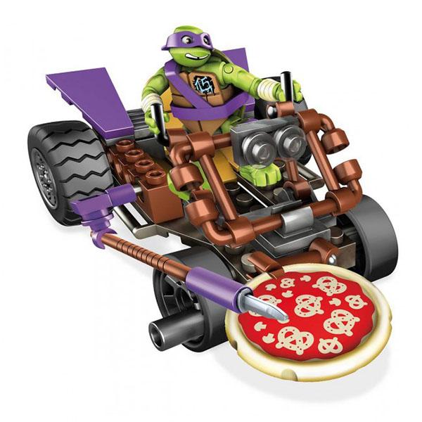Mattel Mega Bloks DMX37 Мега Блокс Черепашки Ниндзя: лихие гонщики конструкторы mega bloks mattel черепашки ниндзя схватка в пиццерии 129 деталей