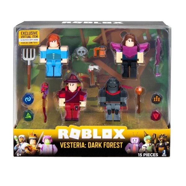 Roblox ROG0165 Фигурки героев Vesteria: Dark Forest 4 шт с аксессуарами