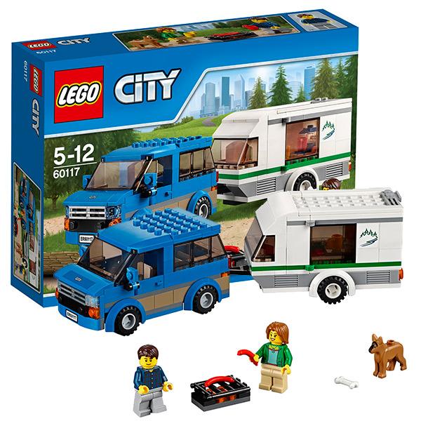 Lego City 60117 Лего Город Фургон и дом на колёсах lego lego city фургон и дом на колёсах