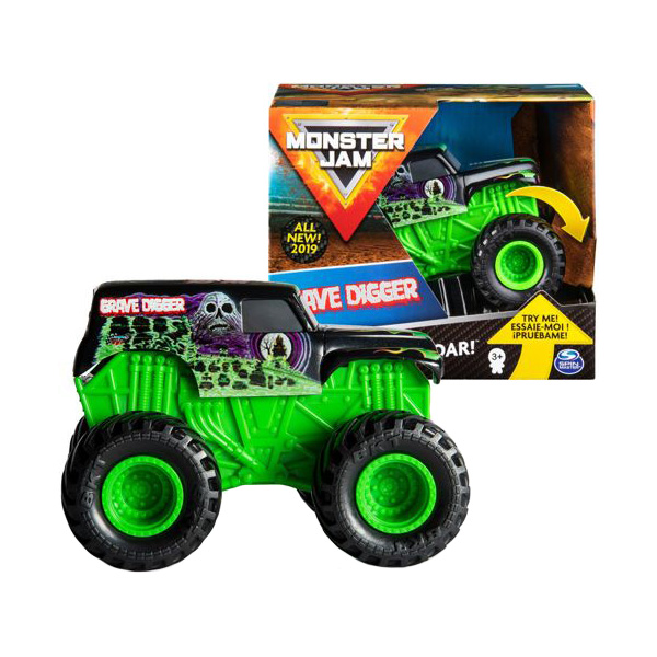 Monster Jam 6044990-GRI Монстр Джем машинка Звуки мотора Grave Digger