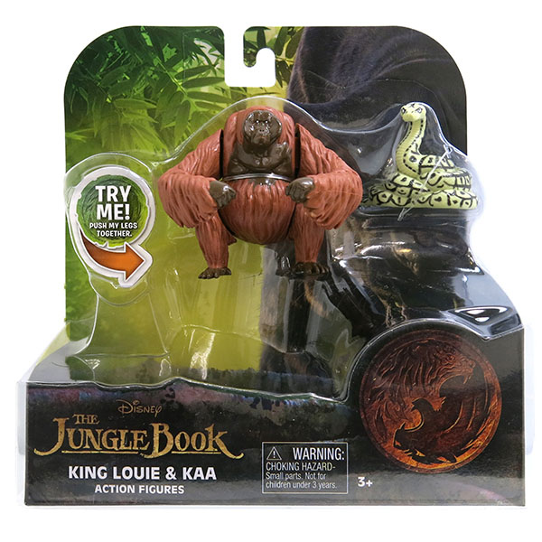 Jungle Book 23255C Книга Джунглей 2 фигурки в блистере (Король Луи и Каа)