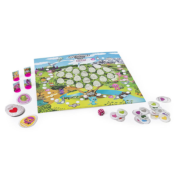 Hatchimals 98234 Хетчималс Настольная игра Memory + 4 коллекционные фигурки