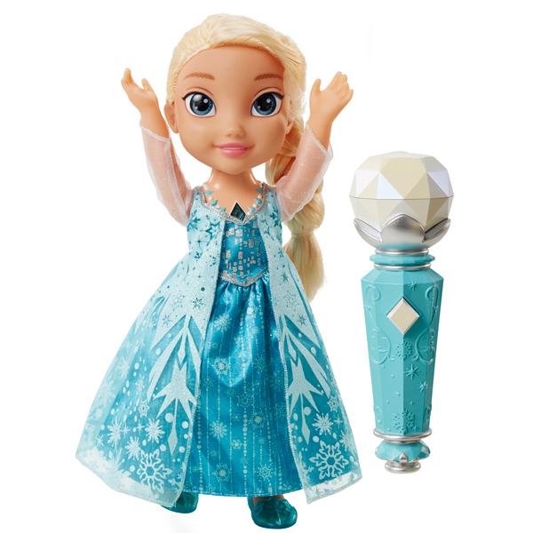 Disney Princess 310780 Кукла Эльза Холодное Сердце Принцессы Дисней, поющая с микрофоном кукла холодное сердце принцессы дисней с олафом 15 см в асcортименте