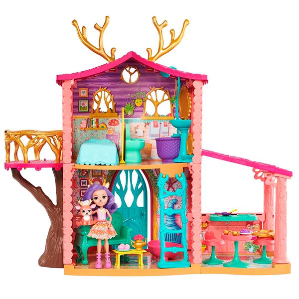 цена Mattel Enchantimals FRH50 Домик Данессы Оленни