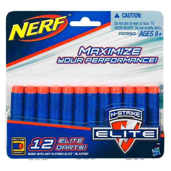 Hasbro Nerf A0350 Нерф Комплект 12 стрел для бластеров hasbro nerf a8860 n rebelle секреты и шпионы комплект специальных стрел для лука