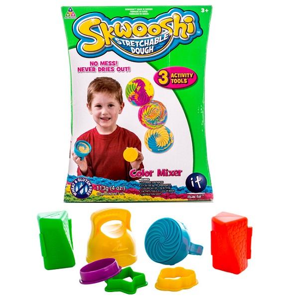 Skwooshi S30008 Сквуши Набор для смешивания цветов - масса для лепки и аксессуары skwooshi набор для лепки с аксессуарами бургер