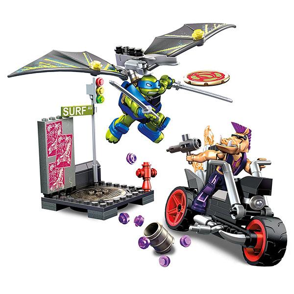 Mattel Mega Bloks DXY15 Мега Блокс Черепашки Ниндзя: черепаший глайдер конструкторы mega bloks mattel черепашки ниндзя схватка в пиццерии 129 деталей