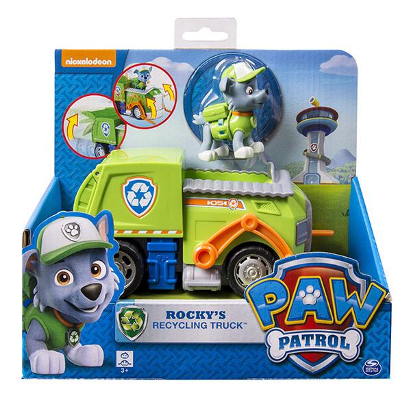Paw Patrol 16601-Roc Щенячий патруль Машинка спасателя и щенок (Рокки)