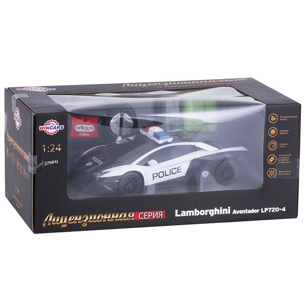 Wincars DS-2010 Lamborghini полиция (лицензия), Р/У, масштаб 1:24, ЗУ в комплекте