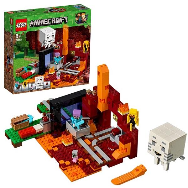 цена на LEGO Minecraft 21143 Конструктор ЛЕГО Майнкрафт Портал в Подземелье