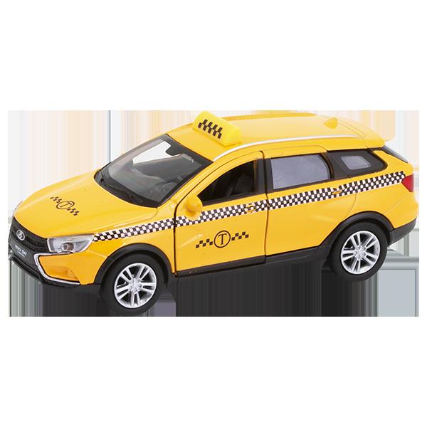 Welly 43763TI Велли Модель машины 1:34-39 LADA VESTA SW CROSS Такси недорого