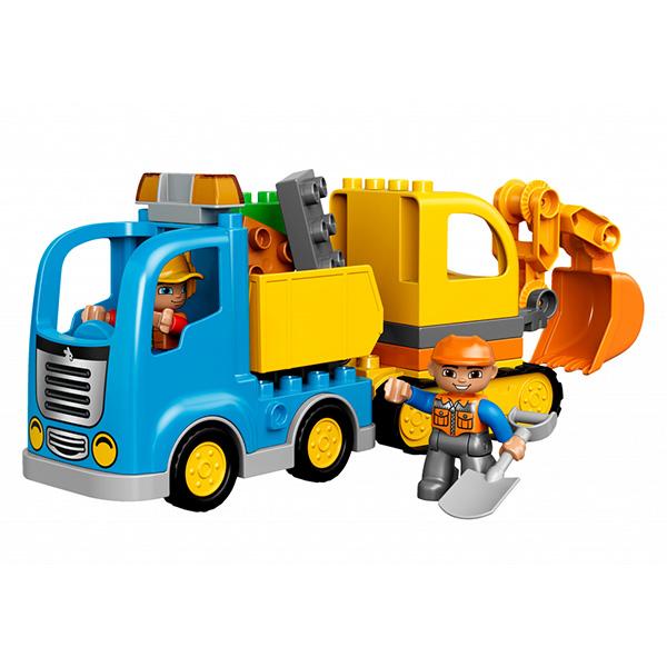 Лего Дупло 10812 Конструктор Грузовик и гусеничный экскаватор