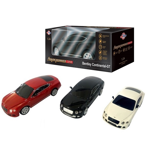 Wincars DS-2013 Bentley Continental GT (лицензия), Р/У, масштаб 1:24, ЗУ в комплекте