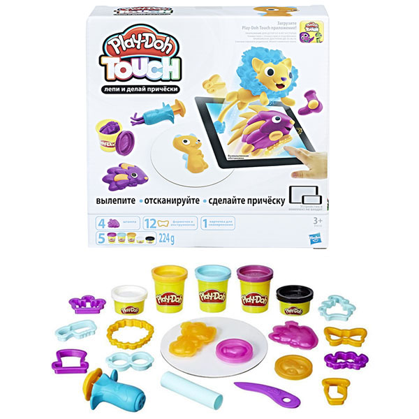Hasbro Play-Doh B9018 Игровой набор Лепи и делай причёски hasbro play doh b5517 игровой набор из 4 баночек в ассортименте обновлённый