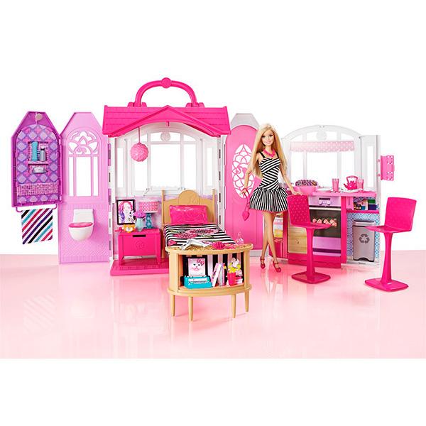 Mattel Barbie CFB65 Барби Переносной домик + Кукла