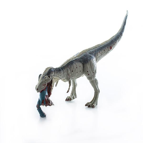 HGL SV12430 Игрушка фигурка Тираннозавр ест Брахиозавра