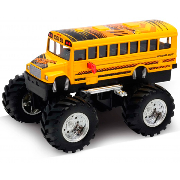 Welly 47006S Велли Модель машины 1:34-39 School Bus Big Wheel Monster 4pcs 100mm 1 9 rubber rocks tyres wheel tires for scx10 d90 rc rock crawler car 1 10 monster truck rc on road car parts