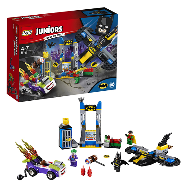 Lego Juniors 10753 Конструктор Лего Джуниорс Нападение Джокера на Бэтпещеру lego juniors 10765 конструктор лего джуниорс подводный концерт ариэль