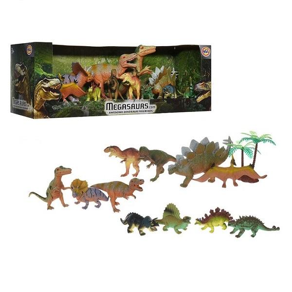 Megasaurs SV10804 Мегазавры Игровой набор динозавров, 12 шт игровой набор hgl megasaurs 9 фигурок и 2 дерева