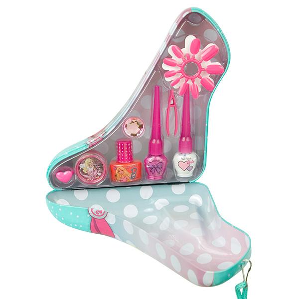 Markwins 9600651 Barbie Набор детской декоративной косметики в туфельке зеленый