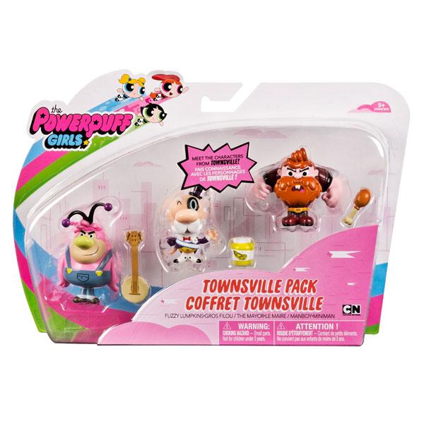 Powerpuff Girls 22318 Три фигурки обитателей города, 5 см