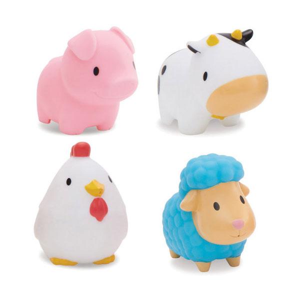 MUNCHKIN 12000D Игрушка для ванны Деревенские зверюшки 4 шт игрушки для ванны babyono игрушки для ванной животные средние 4 шт