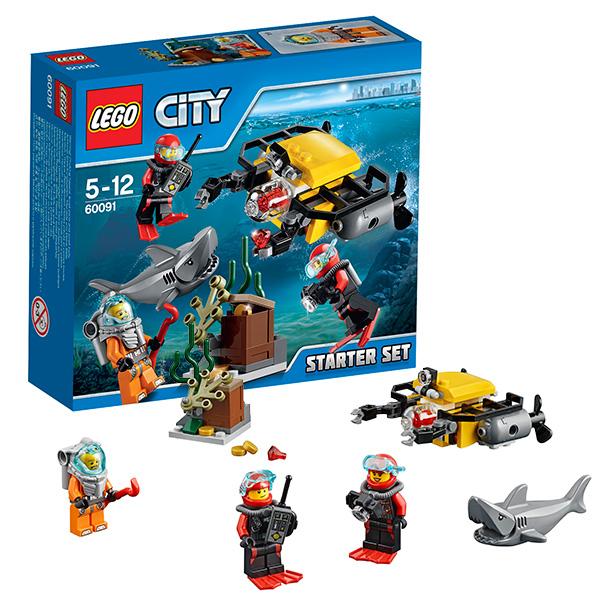 Lego City 60091 Конструктор Лего Город Морская исследовательская лаборатория для начинающих
