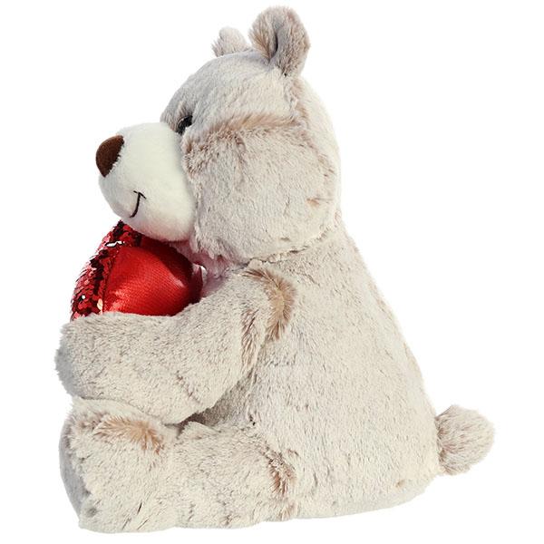 Aurora 190114C Аврора Медведь Большое сердце коричневый 30 см.