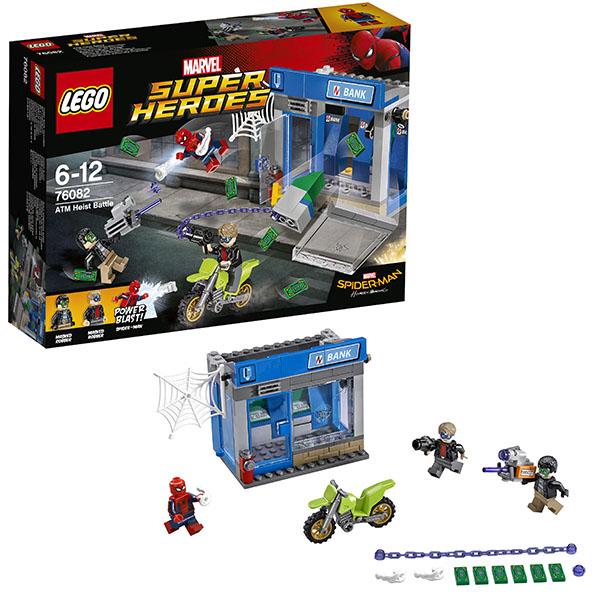 Lego Super Heroes 76082 Конструктор Лего Супер Герои Ограбление банкомата конструктор lego marvel super heroes реактивный самолёт мстителей 76049