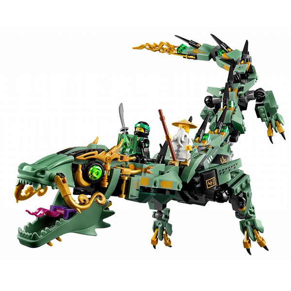 Lego Ninjago 70612 Конструктор Лего Ниндзяго Механический Дракон Зелёного Ниндзя