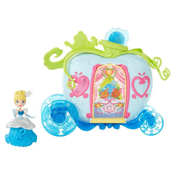 Hasbro Disney Princess B5345 Маленькая кукла и модные аксессуары Золушка с каретой hasbro кукла рапунцель принцессы дисней