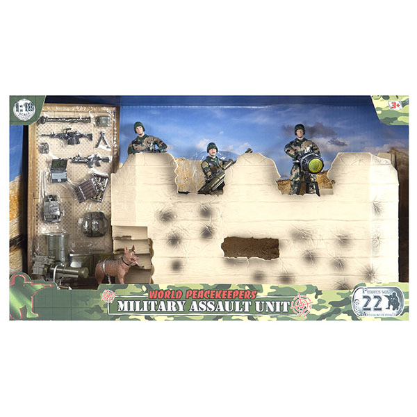 """цена на World Peacekeepers MC77082 Игровой набор """"Штурмовая группа"""" 2 фигурки, 1:18"""