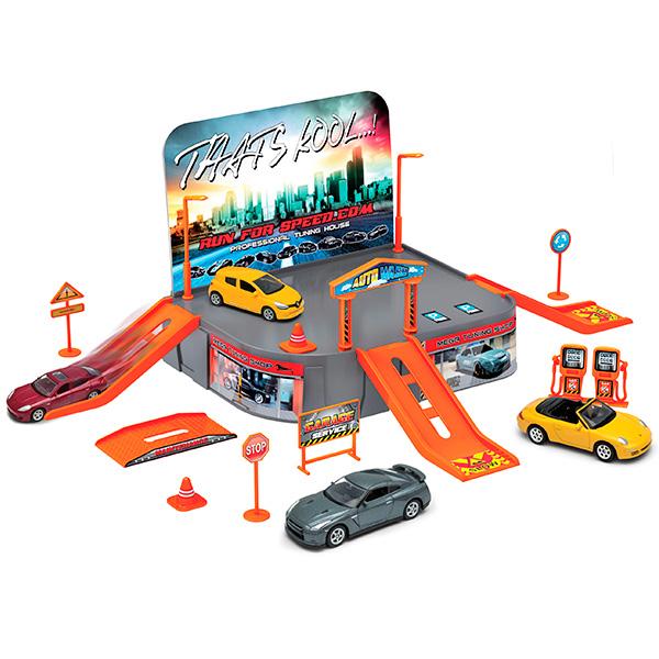 Welly 96020 Велли Игровой набор Гараж, включает 1 машину игровой набор faro макси гараж 2 в 1 709