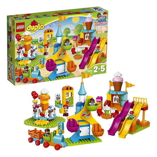 Lego Duplo 10840 Конструктор Лего Дупло Большой парк аттракционов lego lego duplo 10586 фургон с мороженым