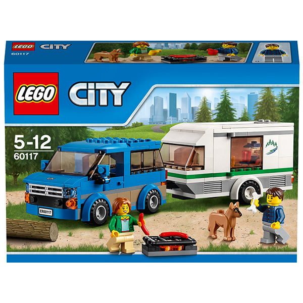 LEGO City 60117 Конструктор ЛЕГО Город Фургон и дом на колёсах