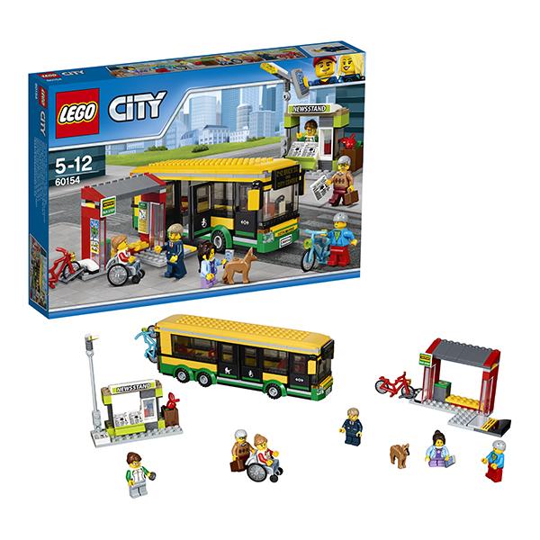 Lego City 60154 Конструктор Лего Город Автобусная остановка lego city 60110 лего город пожарная часть
