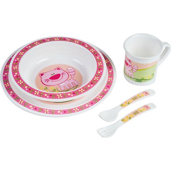 Canpol babies 210307210 Набор обеденный пластиковый, розовый, 12м+