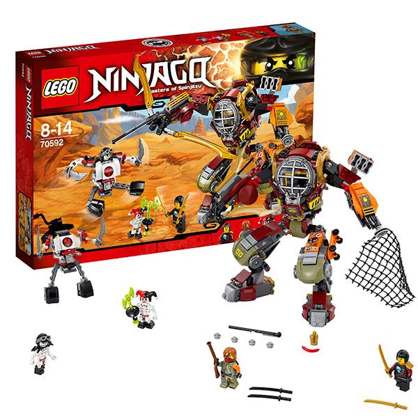 Lego Ninjago 70592 Лего Ниндзяго Робот-спасатель lego ninjago 70615 лего ниндзяго огненный робот кая