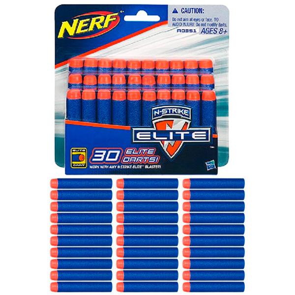 Hasbro NERF A0351 Нерф 30 стрел для бластеров Элит игрушечное оружие nerf hasbro зомби страйк 30 стрел