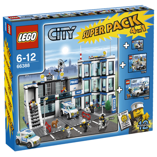 Lego City 66388 Конструктор Лего Город Подарочный Суперпэк Город Полиция версия 1