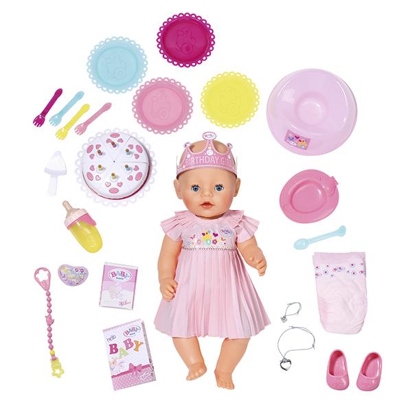 Zapf Creation Baby born 824-054 Бэби Борн Кукла Интерактивная Нарядная, 43 см