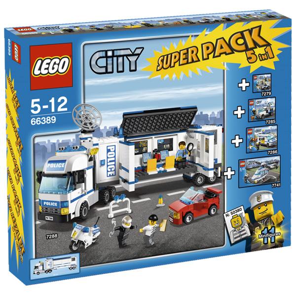 Lego City 66389 Конструктор Лего Город Подарочный Суперпэк Город Полиция версия 2