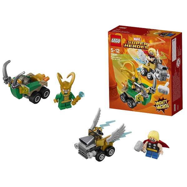 Lego Super Heroes Mighty Micros 76091 Конструктор Лего Супер Герои Тор против Локи lego 76069 super heroes mighty micros бэтмен против мотылька убийцы