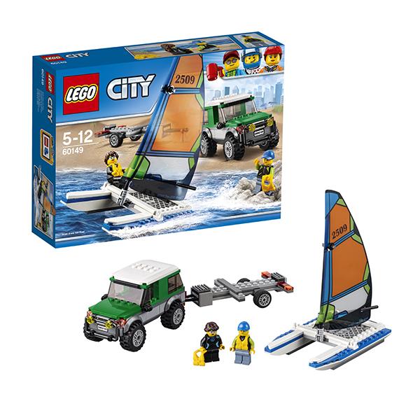 Lego City 60149 Конструктор Лего Город Внедорожник с прицепом для катамарана lego city 60110 лего город пожарная часть