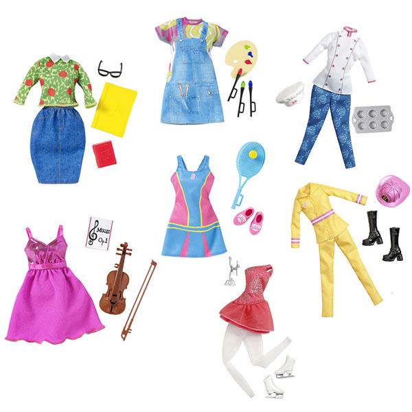 Mattel Barbie CHJ27 Барби Наряды для разных профессий (универсальный размер) (в ассортименте)