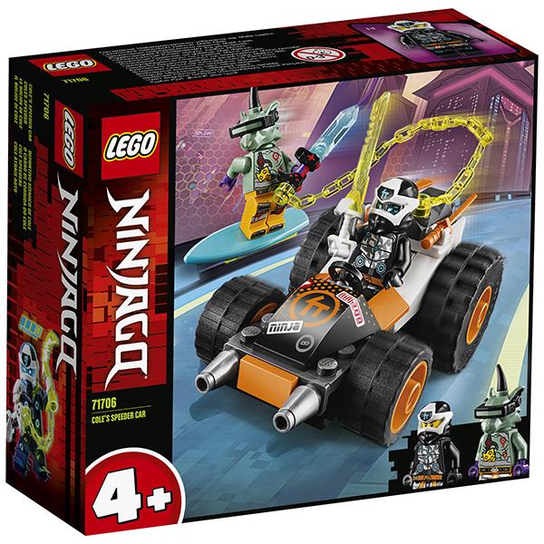 LEGO Ninjago 71706 Конструктор ЛЕГО Ниндзяго Скоростной автомобиль Коула